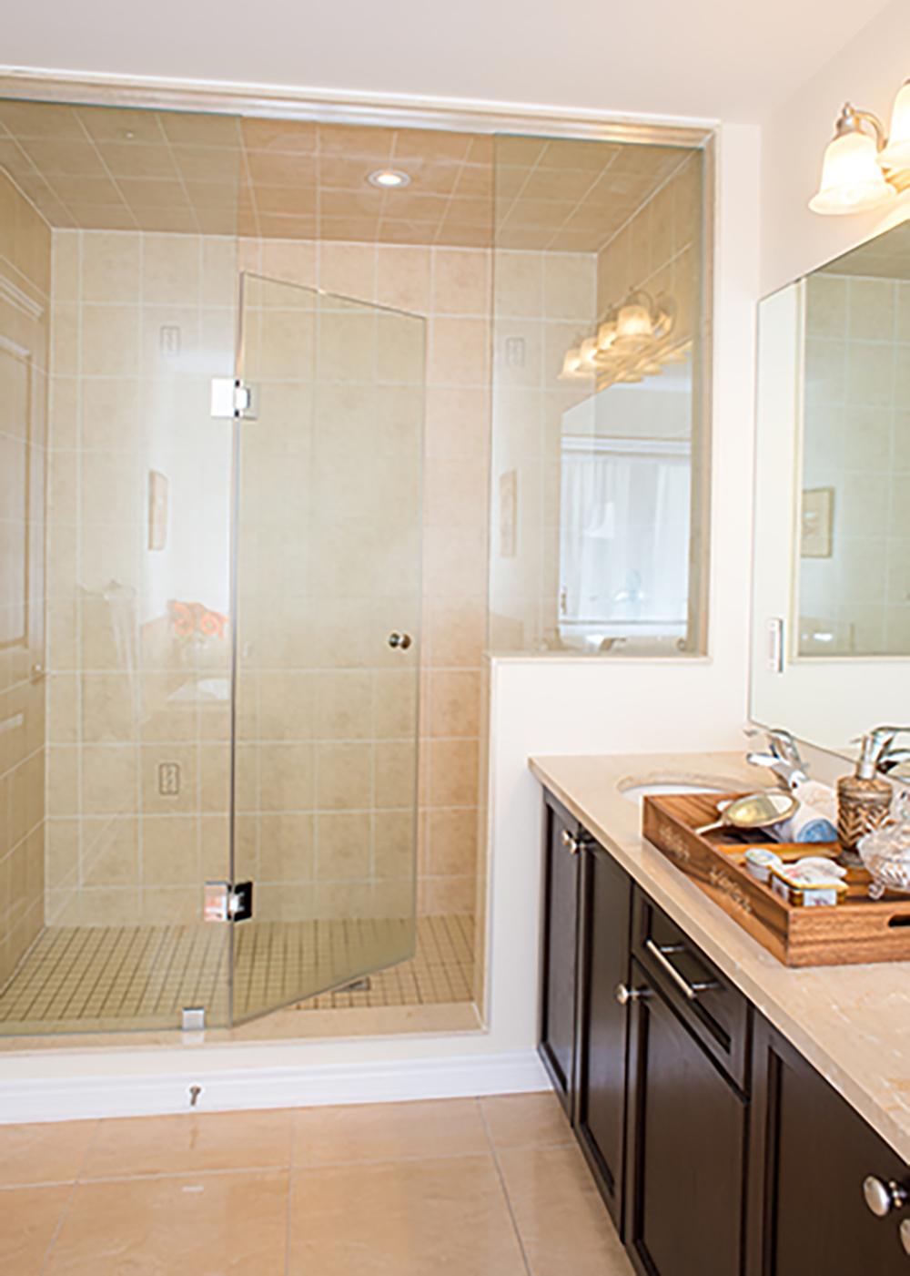 European Frameless Shower Doors Vision Mirror And Shower Door