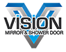 Vision Mirror and Shower Door Logo