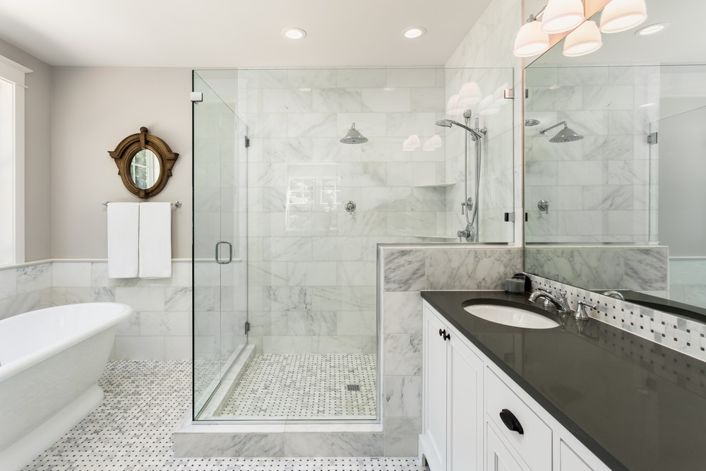 maintaining a clean glass shower door